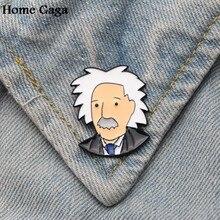 9c67cfd4c Albert Einstein Homegaga pinos emblemas da liga do Zinco empate parágrafo  camisa saco de roupa tampa mochila sapatos broches emb.