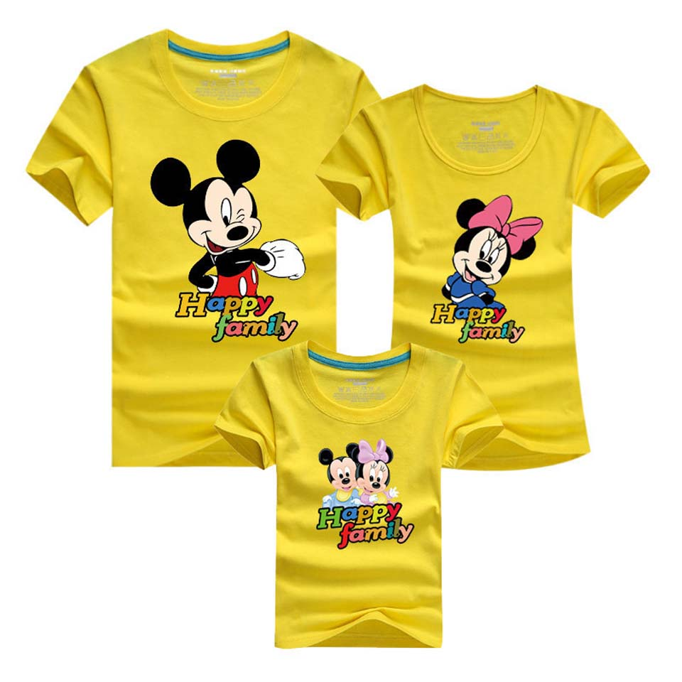 Couples Matching Clothing Happy Family Cartoon Pattern Matching Mother Daughter Clothes Family Matching Clothes Mom & Dad ...