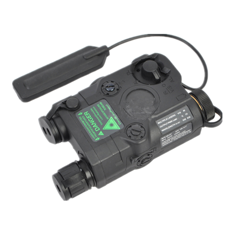 AN/PEQ-15 battery box Laser Aiming Device  + GREEN LASER with tail switch 3 modes black