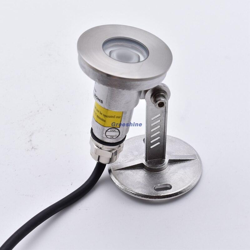 316 acier inoxydable haute qualité 1 W Mini lumière LED sous-marine 12 V IP68 lumière sous-marine Spot 24 V étang lampe fontaine lumière 8 pièces