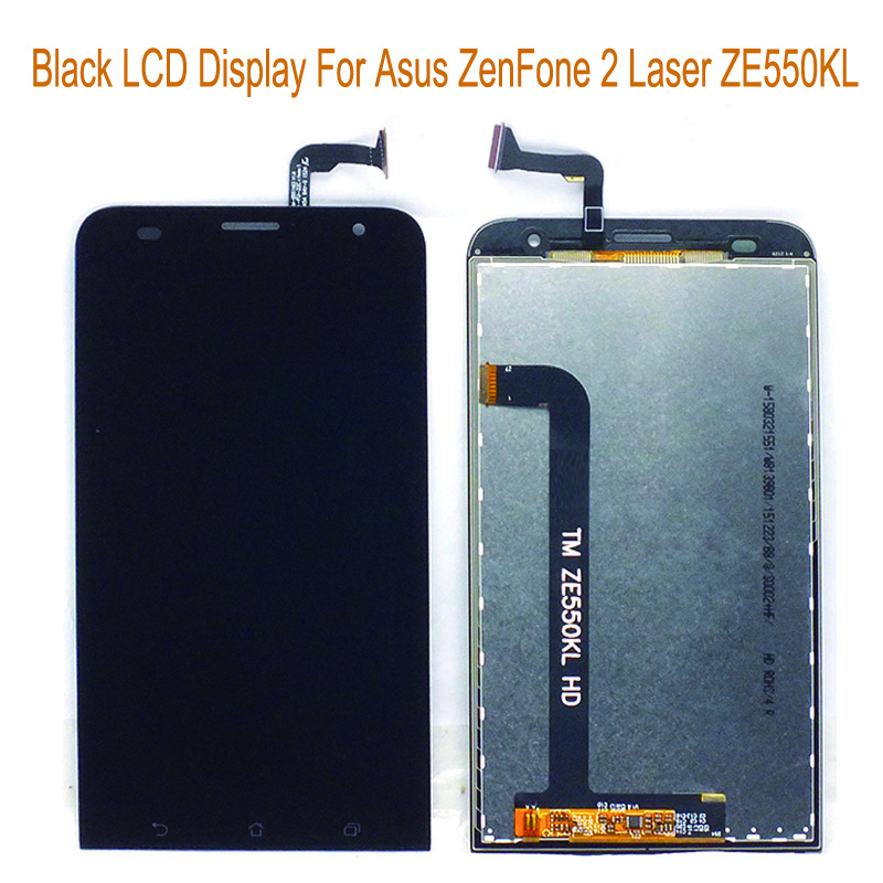 Подробнее о Original New Black For Asus Zenfone 2 Laser ZE550KL LCD Display + Touch Screen Digitizer Assembly Replacement Repair Part black replacement part for asus zenfone 4 lcd display and touch screen digitizer assembly 1pc lot free shipping