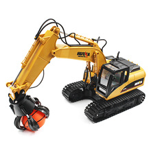 New HUINA TOYS 1571 1:14 2.4GHz 16CH RC Alloy Ball Grabber Engineering Truck RTR 680-degree Rotation / Movabl LED Light gifts