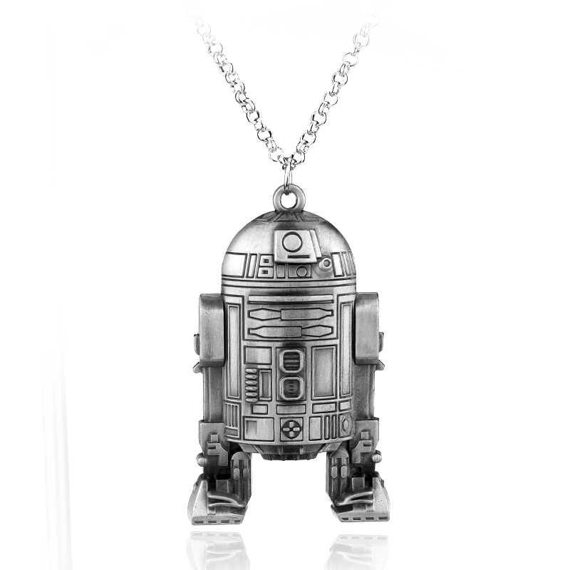 HEYu סרט העסק מלחמת הכוכבים המילניום פלקון חללית רובוט R2D2 שרשרת מתכת סגסוגת תליון שרשרת תכשיטים