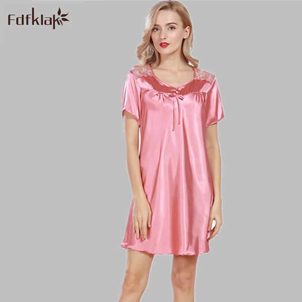 220e838931 Detail Feedback Questions about Sexy Nightie Large Size Nightgowns Sleep  Dress Women Summer New Silk Satin Lingerie Long Nightgowns For Women  Sleepwear ...