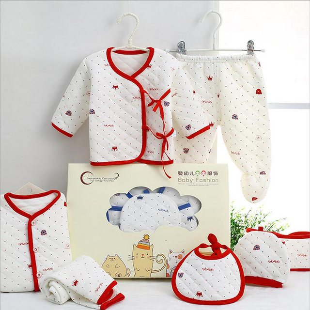 7PCS/Newborn Baby Set 0-3M new Infant Clothing suit newborn cotton new born baby boy girl clothes winter Autumn unisex outfit