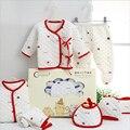 7 UNIDS/Sistema Del Bebé Recién Nacido 0-3 M nuevo traje de Ropa de bebé recién nacido de algodón bebé recién nacido ropa de niña de invierno Otoño traje unisex
