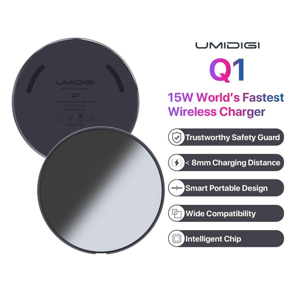 UMIDIGI Q1 15W Wireless fastest Charger for Samsung Galaxy ...
