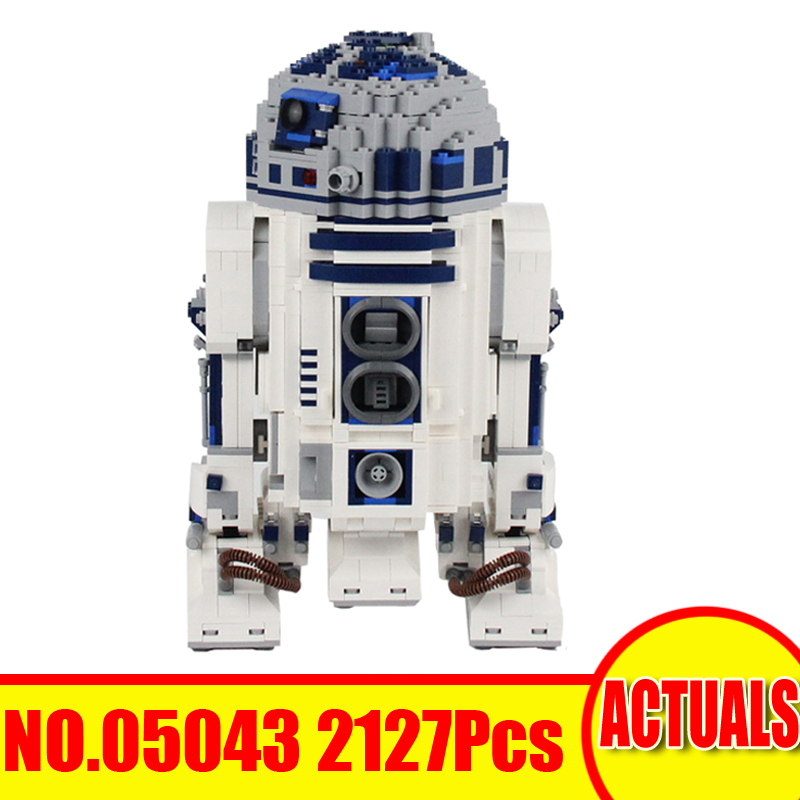 Lepin 05043 2127Pcs Star Wars Figures The R2-D2 Robot Building Model Blocks Bricks Kits Set Toys For Children Compatible 10225 футболка классическая printio r2 d2 star wars