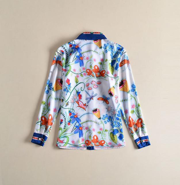 Elegant Ladies Floral Print Office Shirt