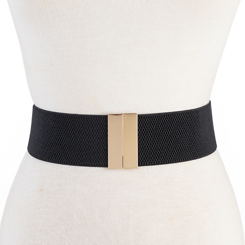 Newest Waistbands Black Wide Cummerbunds Bright Gold Buckle Belt Red Waistband Dress Decorate Lady Party Belts Fashion Gift Girl