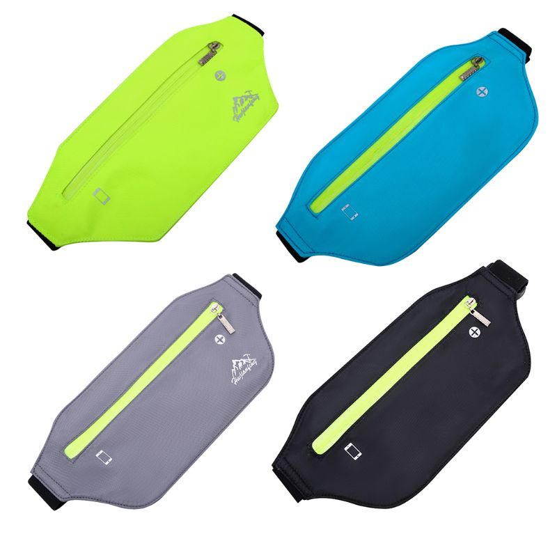THINKTHENDO Lycra Sports Fanny Pack Waist Bum Bag Travel Running Bags Slim Belt Phone Pouch For Men Women