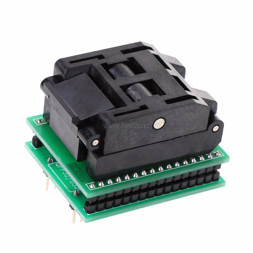 TQFP32 QFP32 TO DIP32 IC Programmer Adapter Chip Test Socket SA663 Burning Seat Integrated CircuitsTQFP32 QFP32 TO DIP32 IC Programmer Adapter Chip Test Socket SA663 Burning Seat Integrated Circuits