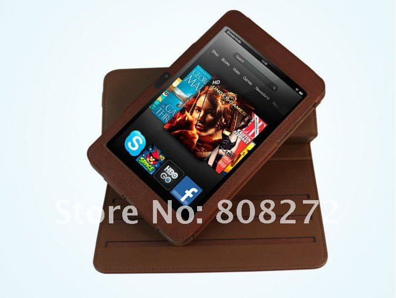 2012 New Leather Case Cover For Amazon Kindle Fire HD