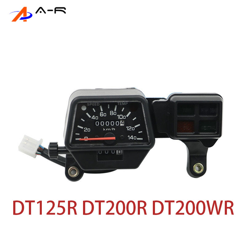 Speedometer Kilometer Odometer Gauge Tachometer Clock Instrument For Yamaha DT 125 200 R DT125R DT200R DT200WR