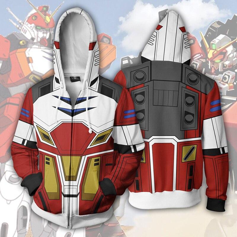 MOBILE SUIT GUNDAM Anime 3D Print Hoodies Sweatshirts Cosplay Hooded Casual Coat Jacket
