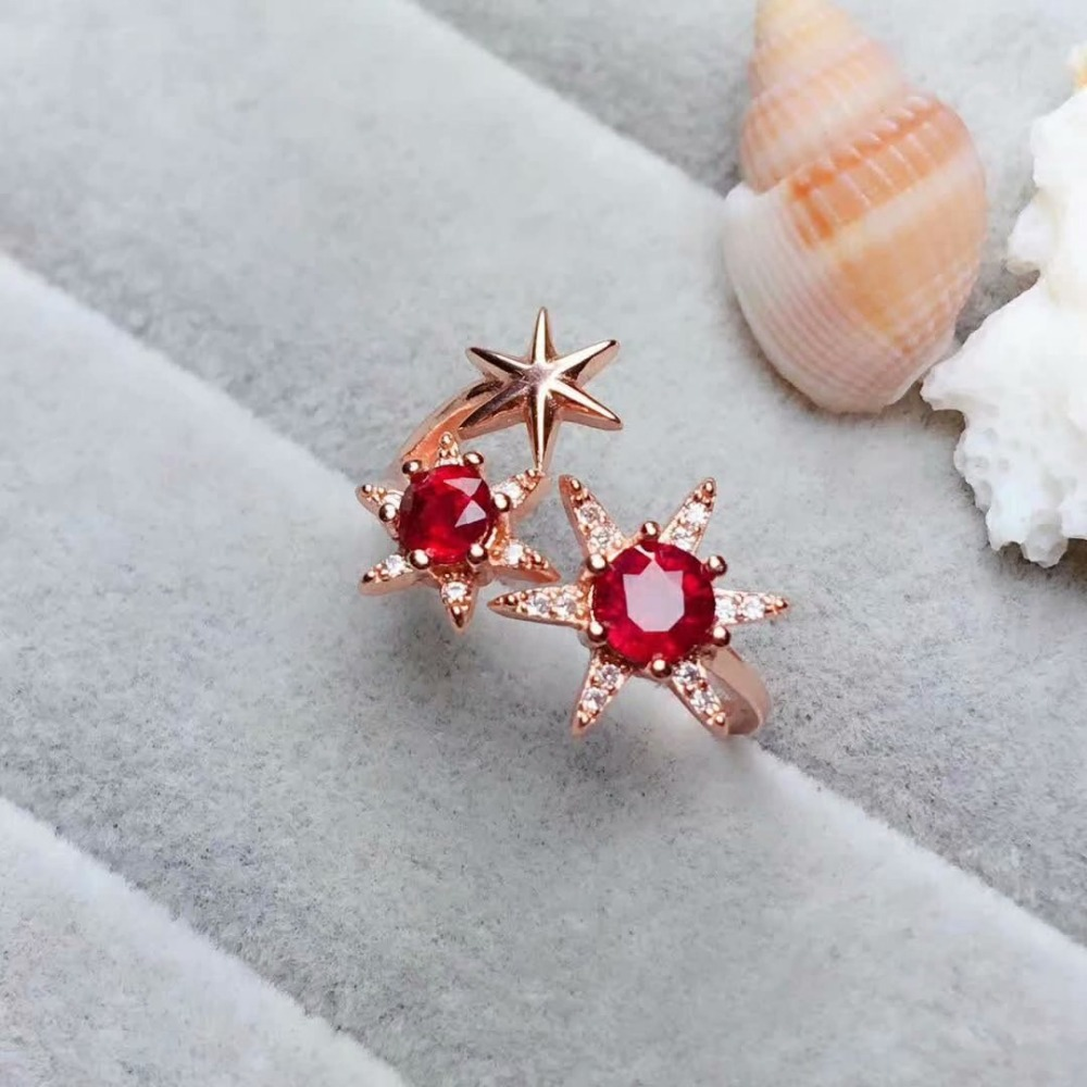 shilovem  Natural New Burning Pigeon Blood Ruby Gemstone Rings for Women Real 925 Sterling Silver new gift  plant  mj445500aghshilovem  Natural New Burning Pigeon Blood Ruby Gemstone Rings for Women Real 925 Sterling Silver new gift  plant  mj445500agh