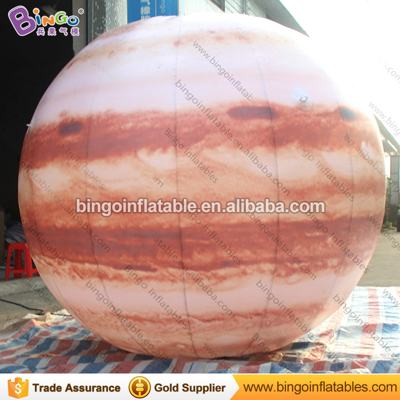 Hot sale 2m diameter inflatable Jupiter balloon for party decoration customized blow up Jupiter model with blower toy planet