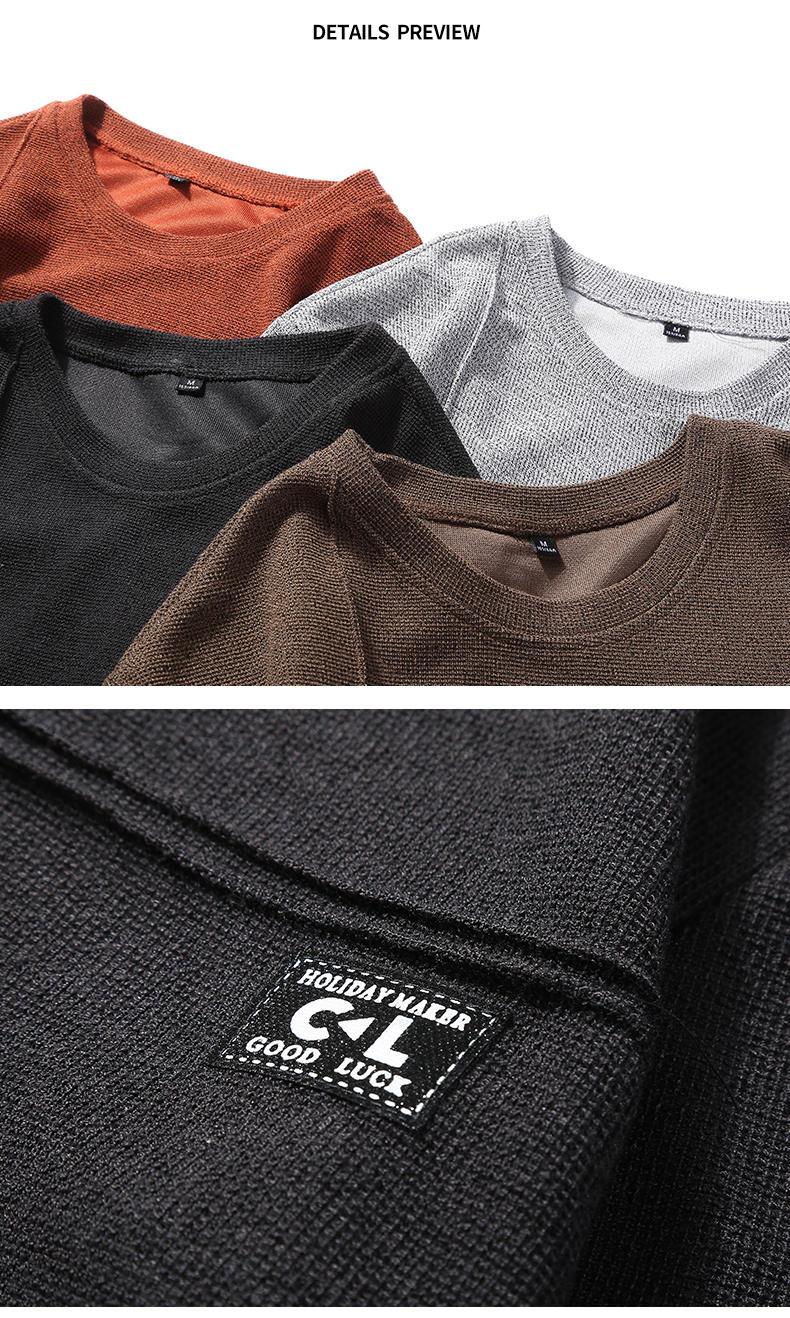 2019 New Fashion Hoodies Shirts Men Sweatshirts Male Solid Hoody Korean Styele O-Neck Autumn Spring Winter Brand Streetwears 09