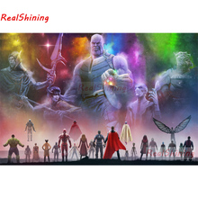 Full Square Drill 5D DIY Marvel Avengers diamond painting Cross Stitch 3D Embroidery Kits home decor H130