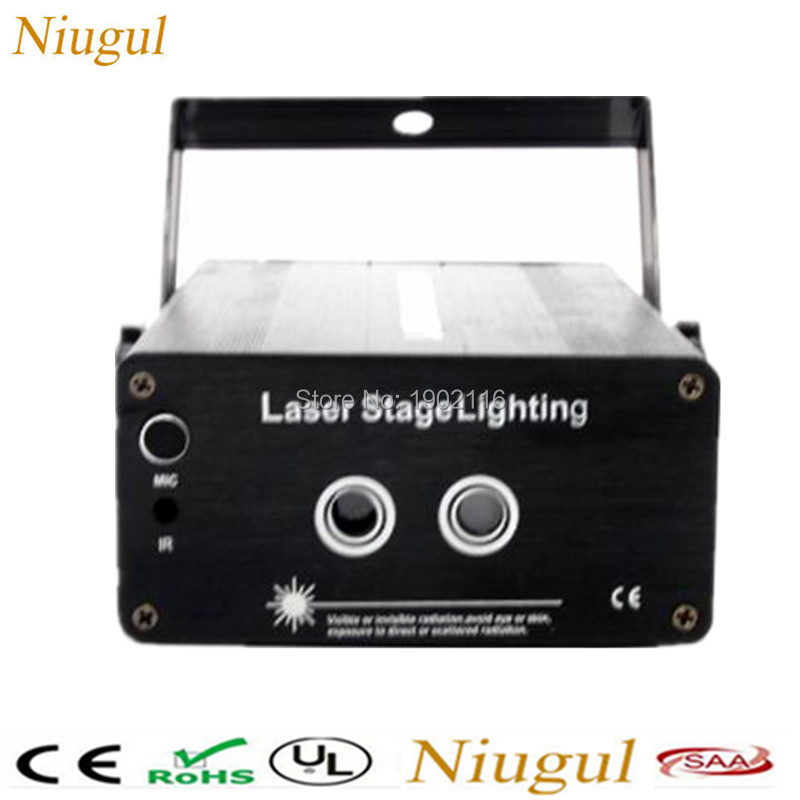 2 Lens 24/48 Patterns RG Laser Projector Stage Lighting Effect red green color laser LED DJ Disco Bar Show Home Party Xmas Light niugul dmx stage light mini 10w led spot moving head light led patterns lamp dj disco lighting 10w led gobo lights chandelier