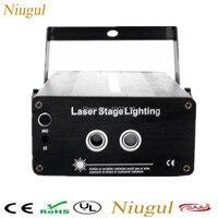 2 Lens 24 48 Patterns RG Laser Projector Stage Lighting Effect Red Green Color Laser LED