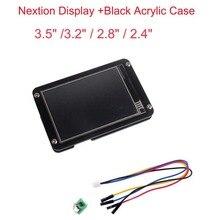 Nextion משופר תצוגה 3.5 3.2 2.8 2.4 אינץ UART HMI LCD מגע תצוגת מודול מסך + שחור אקריליק מקרה עבור arduino