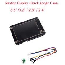 Nextion Display 3.5 3.2 2.8 2.4 inch UART HMI Smart LCD Touch Display Module Screen +Black Acrylic Case for Arduino Raspberry Pi