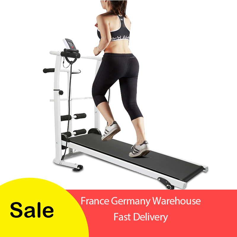 Multifunction Mute Mechanical Treadmill Mini Folding Running Training Fitness Treadmill Family Sports Fitness HWC