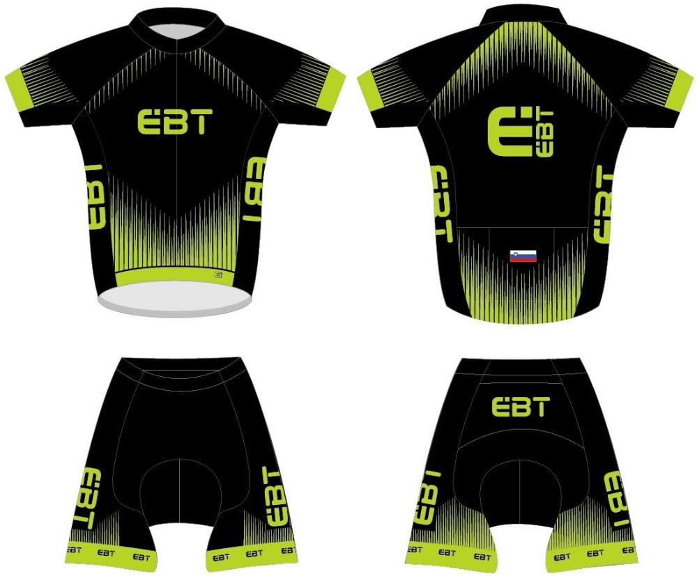 DIY design EBT team Cycling Jersey Pro Team short Sleeve Clothing set