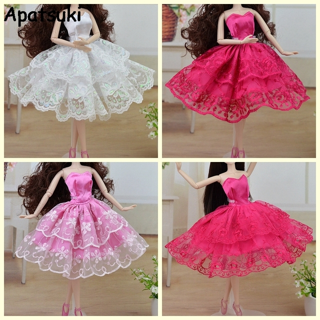 Buatan Tangan Ballet Gaun Pesta Gaun Putri Renda Pakaian untuk Boneka  Barbie Pakaian Pakaian Xinyi 1 822f01cff8