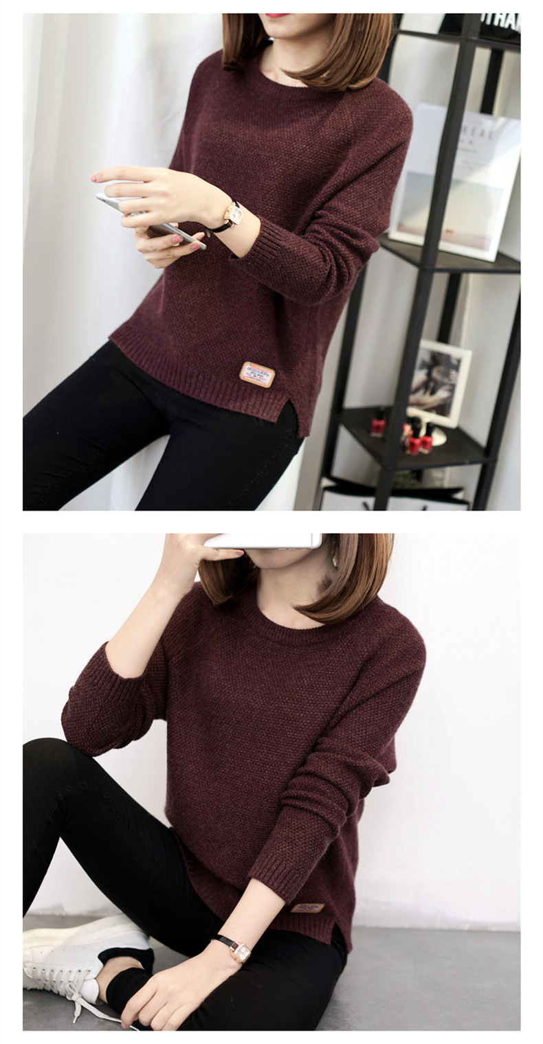 Autumn sweater 19 Winter women fashion sexy o-neck Casual women sweaters and pullover warm Long sleeve Knitted Sweater 9