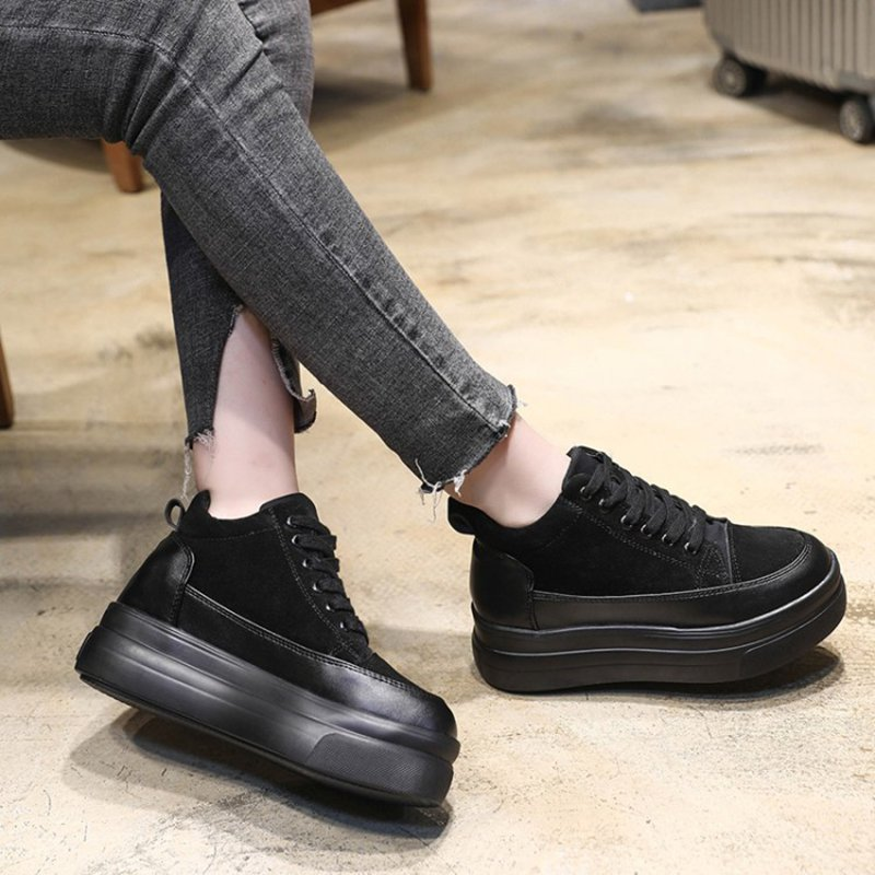 Simples gris Coréenne Mode De À Printemps La Cravate Nouvelle Sauvage Automne Noir Semelles Femmes Version Chaussures Et Épaisses 2018 wAOZAPUq