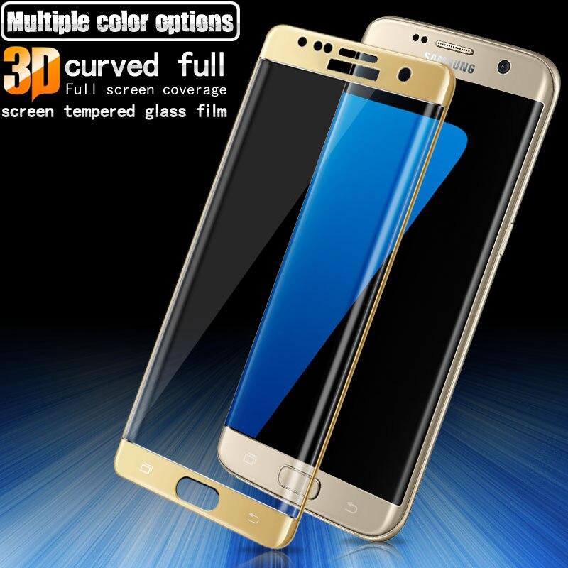 Imak Anti-Explosion 3D Pleine Couverture En Verre Trempé Pour Samsung Galaxy S7 Bord Écran Protecteur pour Samsung S7Edge G935F g935 Verre
