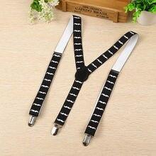 Fashion Braces Suspenders Print Clip-on Adjustable Y-back Suspender Elastic Belts For Children