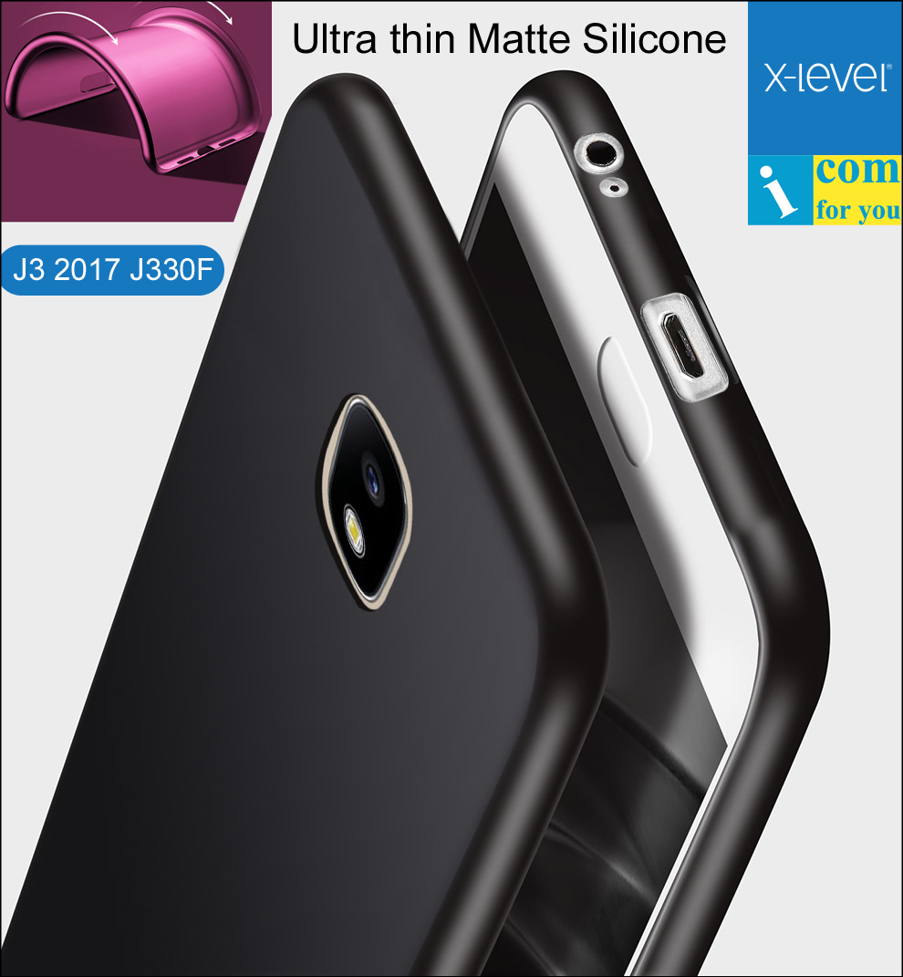 X-уровень ультра тонкий силиконовый чехол для Samsung Galaxy J3 2017 J330F x уровня Guardian Матовый ТПУ Защитный J3 Pro