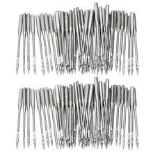50 шт./компл. бытовой плоская швейная машина иглы Ремесло Набор сортированных универсального фитинга 130/705H HAx1 или 15x1 Тип аксессуары