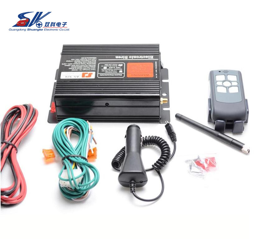 SK 928 Car Styling 200W 12V Car Alarm Siren Electronic Horn Wireless 9 Tone Car Loudspeaker Police Siren Automative Buzzer