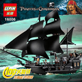 Envío Express16006 Compatible Legoe 4184 Creador Barco Negro Perla Piratas del Caribe Bloques De Construcción Juguetes Modelo