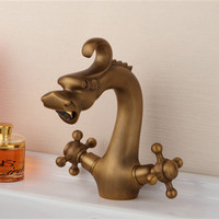 Dragon antique bathroom mixer tap with dual handle single hole bathroom basin sink faucet from DONA Sanitary Ware