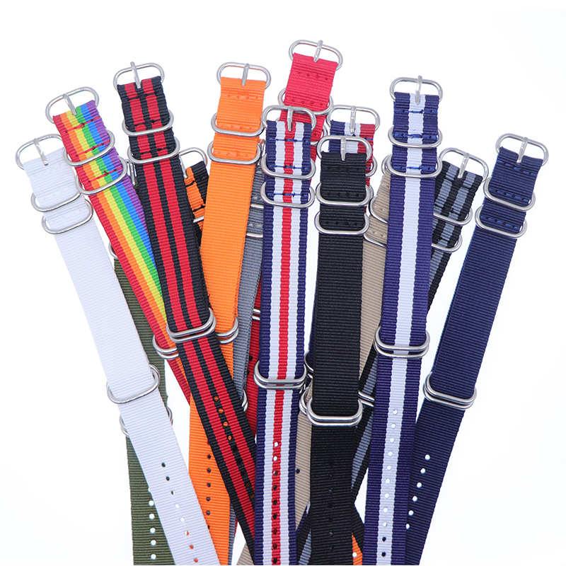 1pcs Nylon Resistant Straps18mm 20mm 22mm 24mm Nylon Band Watch NATO Strap Zulu Watchband Buckle Ring(China)