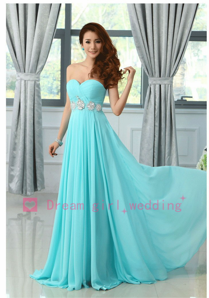 Sky Blue Bridesmaid Dresses - Dress Xy