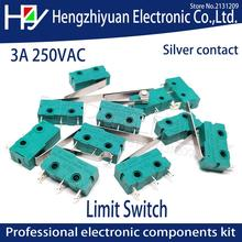 Hzy Mini  Micro Switch Roller Lever Arm SPDT Snap Action LOT 5A 250V KW4-OZ KW4A NC-NO-C With Pulley 3 Feet Stroke Limit Switch