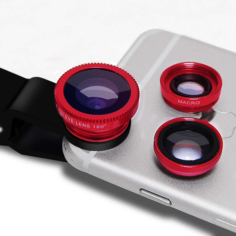 For Samsung Galaxy S2 S3 S4 S5 mini S6 S7 Edge S8 Note 2 3 4 5 7 Fisheye Wide Angle Macro Lenses 3 in 1 Mobile Phone Lens Camera