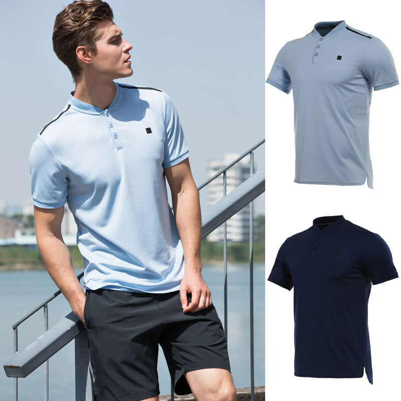 Men's Sportswear T Shirts badminton golf wear shirts mens running tennis shirt POLO Sport Tops Quick Dry Outdoor for men