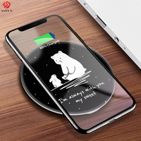 ASINA QI Wireless Charger Receiver For IPhone X 8 8 Plus Portable Cartoon Fast Wireless Charger