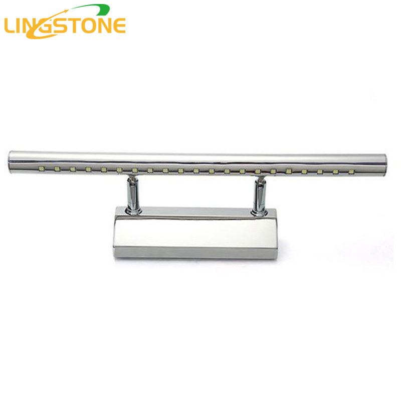 Modern Led Wall Lamp Stainless Steel Wall Sconces Anti-fog Mirror Wall Light Wall Mounted Indoor Lamps Home Lighting Fixtures ada 14 revers