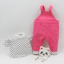 衣装のためのブライス人形かわいいオーバーオール、猫袋、スポットskirためふっくら人形かわいいドレッシング工場ブライス