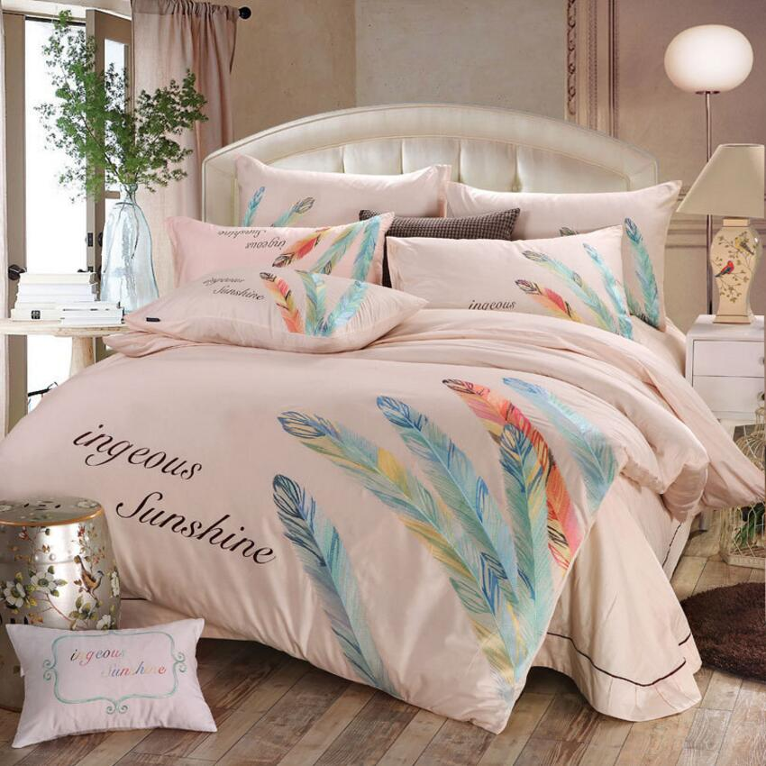 Oriental Luxury Pure Cotton Embroidery Bedding sets Queen King 4pcs Boho Duvet cover Bed sheet set Pillowcase Home decoration