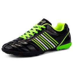 Klasyki stylu buty piłkarskie dla mężczyzn zasznurować mężczyźni profesjonalne trener odgłos kroków buty Student sport na świeżym powietrzu buty do biegania obuwie