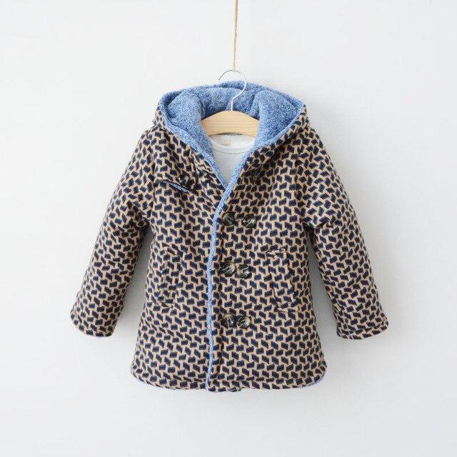 Новый 2016 Мальчик пальто и куртки для детей зима утолщение ватные куртки с капюшоном мода верхняя одежда вниз & парки